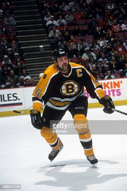 Jason Allison of the Boston Bruins skates on the ice during an NHL game against the New Jersey Devils on April 6 2001 at the Continental Airlines...