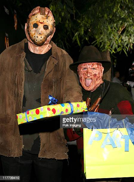 'Jason' and 'Freddy Krueger' during 'The Omen' DVD Release Party October 12 2006 in Los Angeles California United States