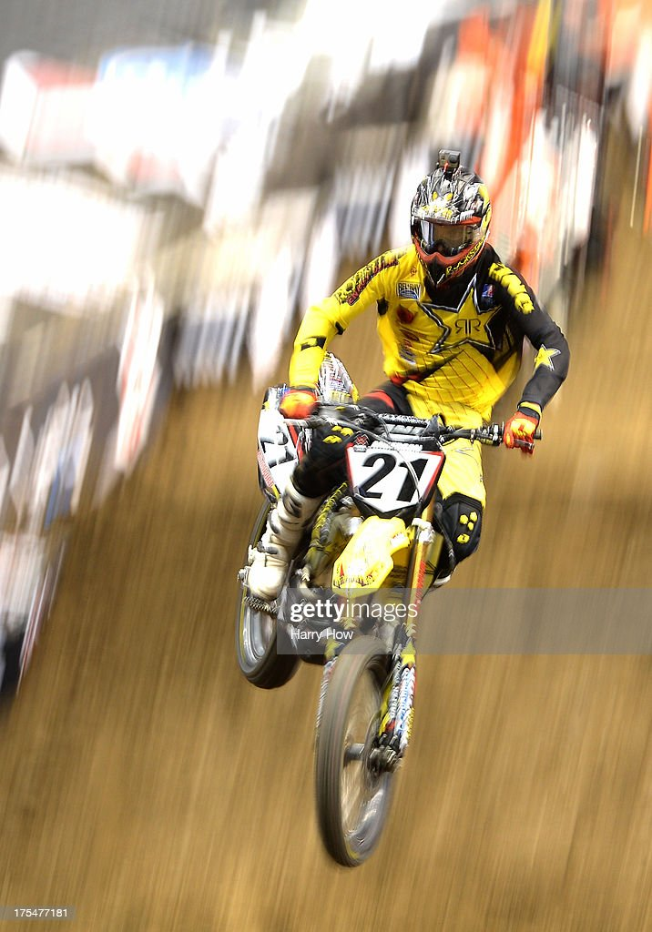 Jason Anderson competes in the Men's Moto X Racing during X Games Los Angeles at Staples Center on August 3, 2013 in Los Angeles, California.
