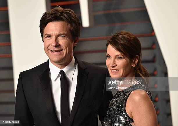 Jason Bateman and Amanda Anka arrives at the 2016 Vanity Fair Oscar Party Hosted By Graydon Carter at Wallis Annenberg Center for the Performing Arts...