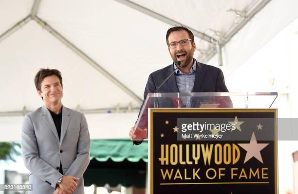 Jason Bateman and State Senator Ben Allen attends The Hollywood Walk of Fame Star Ceremony honoring Jason Bateman on July 26 2017 in Hollywood...