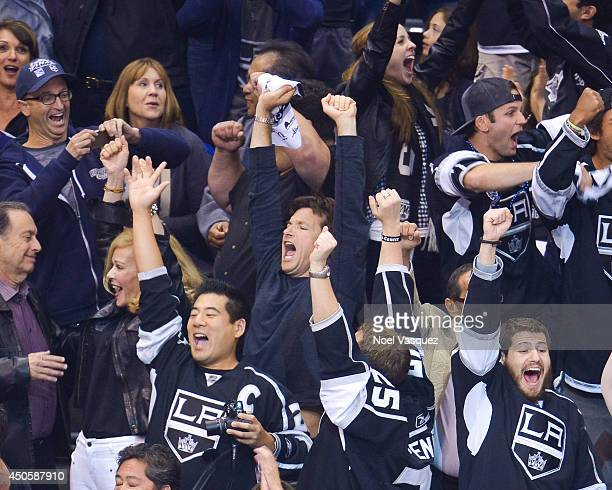 Jason Bateman attends Game Five of the 2014 Stanley Cup Final between the Los Angeles Kings and the New York Rangers at the Staples Center on June 13...