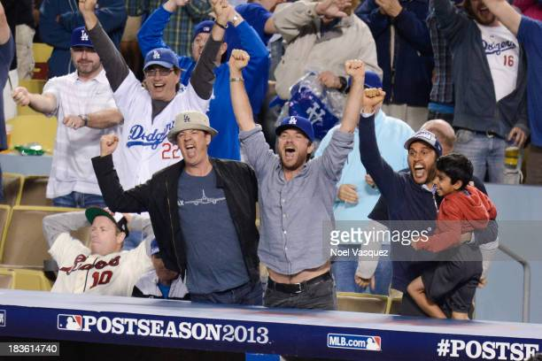 Jason Bateman attends Game Four of the National League Division Series at Dodger Stadium on October 7 2013 in Los Angeles California