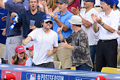Jason Bateman attends Game One of the NLDS between the Los Angeles Dodgers and St Louis Cardinals at Dodger Stadium on October 3 2014 in Los Angeles...
