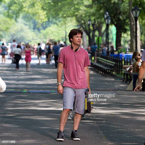 Jason Bateman is seen on location of 'The Family Fang' in Central Park on July 23 2014 in New York City