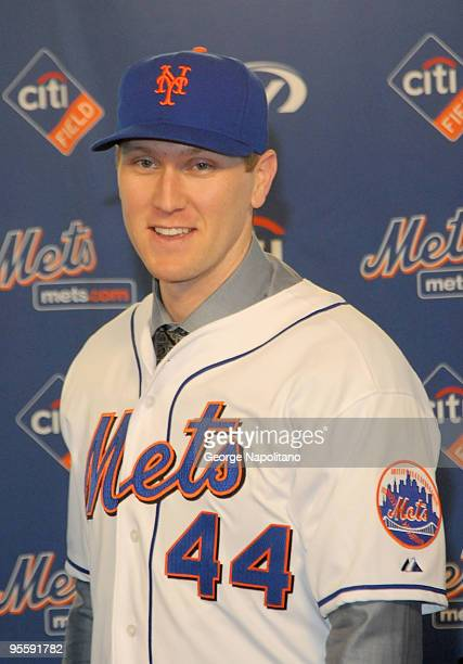 Jason Bay becomes the newest member of the New York Mets at Citi Field on January 5 2010 in New York City