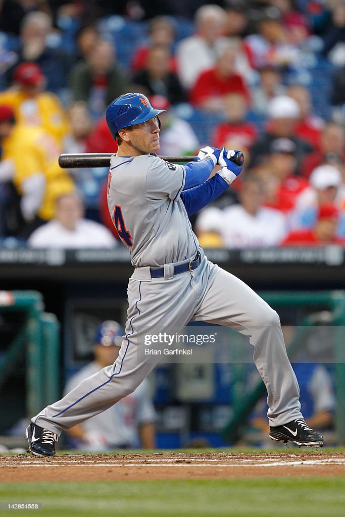 <a gi-track='captionPersonalityLinkClicked' href=/galleries/search?phrase=Jason+Bay&family=editorial&specificpeople=214251 ng-click='$event.stopPropagation()'>Jason Bay</a> #44 of the New York Mets hits a home run in the first inning during the game against the Philadelphia Phillies at Citizens Bank Park on April 13, 2012 in Philadelphia, Pennsylvania.
