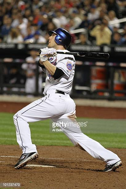 Jason Bay of the New York Mets in action against the Philadelphia Phillies during their game on May 27 2010 at Citi Field in the Flushing...