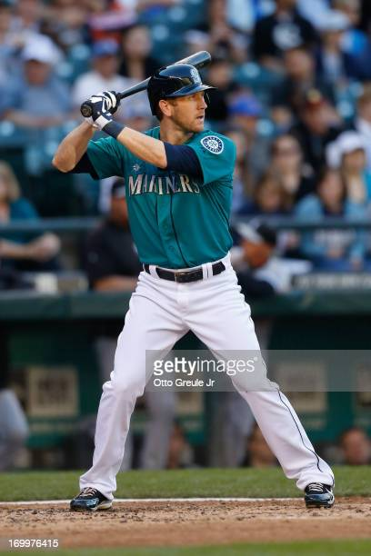 Jason Bay of the Seattle Mariners bats against the Chicago White Sox at Safeco Field on June 3 2013 in Seattle Washington