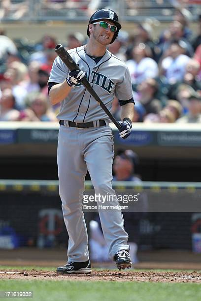 Jason Bay of the Seattle Mariners bats against the Minnesota Twins on June 2 2013 at Target Field in Minneapolis Minnesota The Twins defeated the...