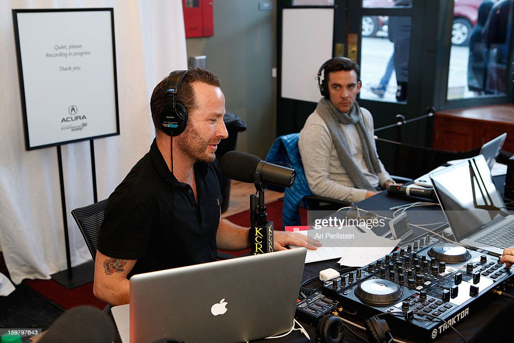 DJ Jason Bentley radio show at the Acura Master Class - Audio Production for Music and Film with Elliot Scheiner moderated by Jason Bentley on January 20, 2013 in Park City, Utah.