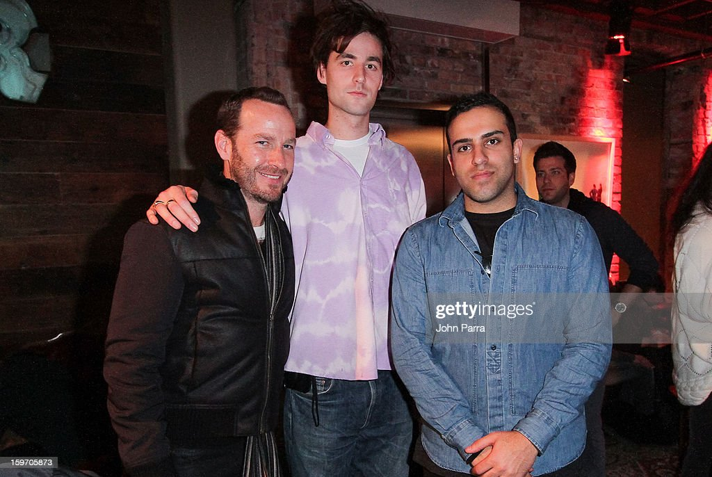 Jason Bentley, Tyrone Lebon and Abteen Bagheri attend the Nokia Music, SPIN, Sundance Channel and SomeSuch & Co Present New American Noise on January 18, 2013 in Park City, Utah.