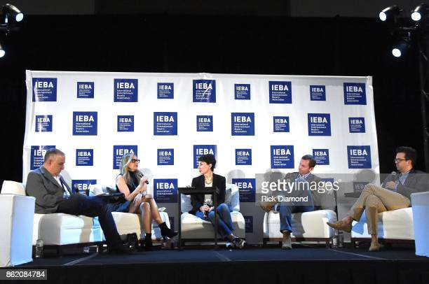Jason Bernstein Berkeley Reinhold Pam Matthews Tim Epstein and Brent Daughrity speak onstage at the Terms Conditions Power Panel during the IEBA 2017...