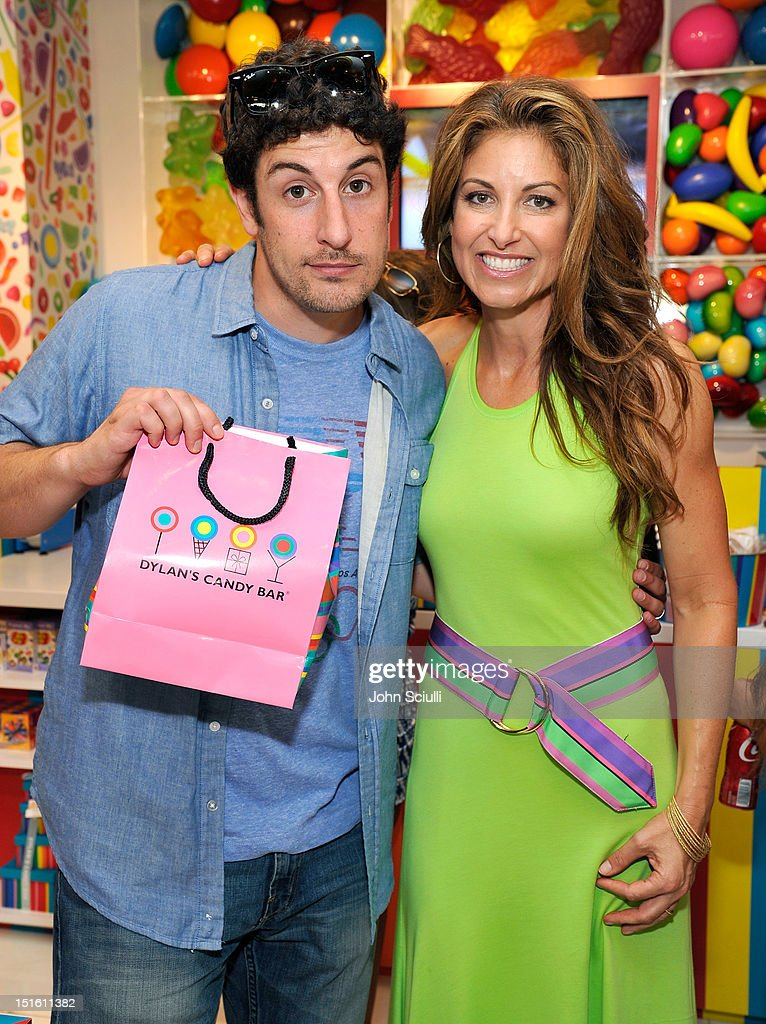 Jason Biggs and CEO/Founder Dylan Lauren attend the Dylan's Candy Bar Los Angeles Opening at Original Farmers Market on September 8, 2012 in Los Angeles, California.