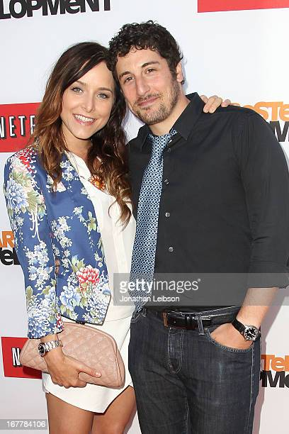 Jason Biggs and Jenny Mollen attend the Netflix's Los Angeles Premiere Of 'Arrested Development' Season 4 at TCL Chinese Theatre on April 29 2013 in...