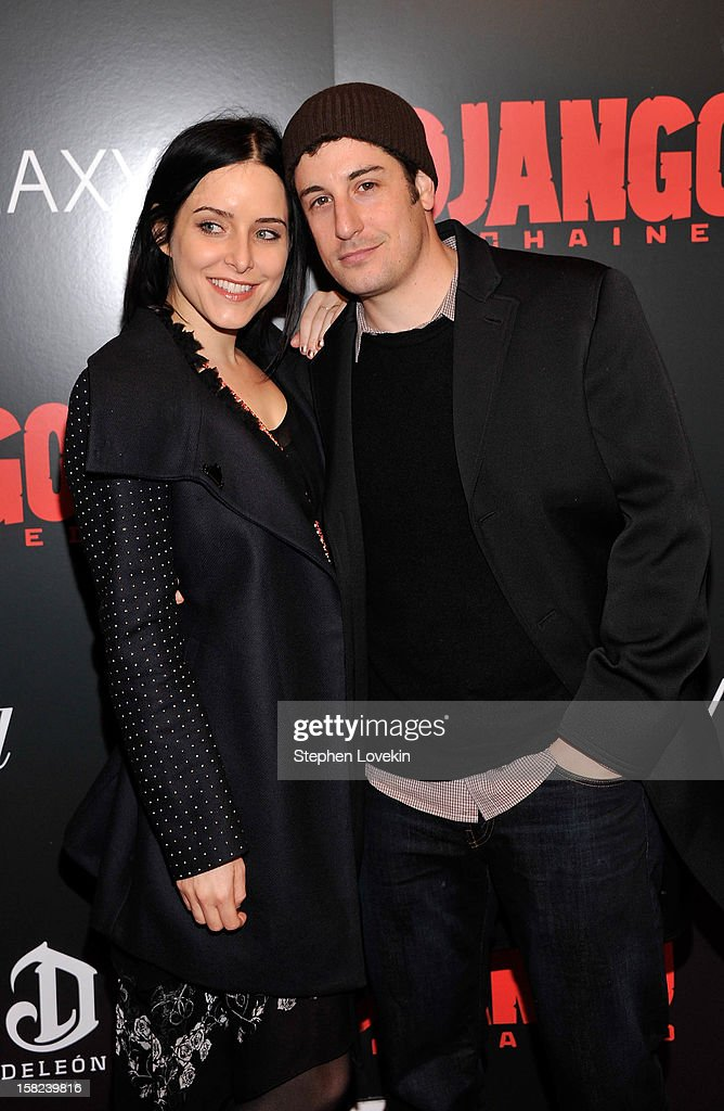 <a gi-track='captionPersonalityLinkClicked' href=/galleries/search?phrase=Jason+Biggs+-+Actor&family=editorial&specificpeople=210701 ng-click='$event.stopPropagation()'>Jason Biggs</a> and <a gi-track='captionPersonalityLinkClicked' href=/galleries/search?phrase=Jenny+Mollen&family=editorial&specificpeople=599177 ng-click='$event.stopPropagation()'>Jenny Mollen</a> attends a screening of 'Django Unchained' hosted by The Weinstein Company with The Hollywood Reporter, Samsung Galaxy and The Cinema Society at Ziegfeld Theater on December 11, 2012 in New York City.