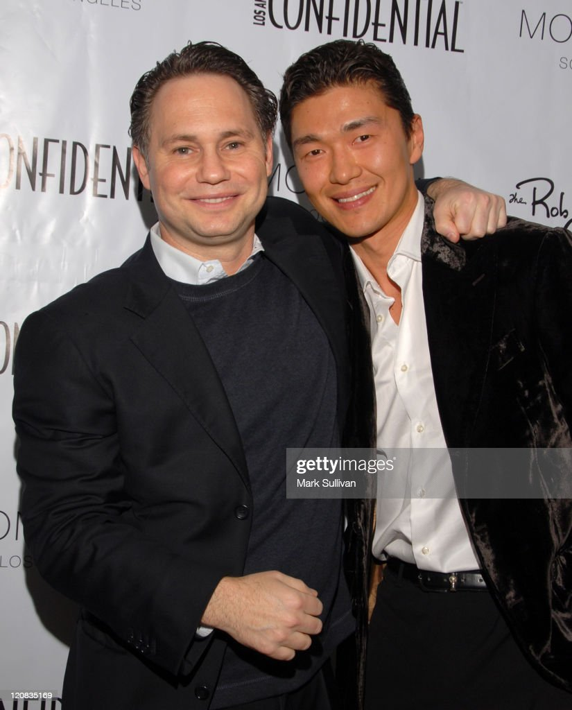 Jason Binn and Rick Yune during Los Angeles Confidential Magazine in Association with Morgans Hotel Group Celebrates the 2007 Oscars with Forest Whitaker, Rob Clark and Hendrix Electric Vodka - Arrivals at Skybar at Mondrian Hotel in Los Angeles, California, United States.