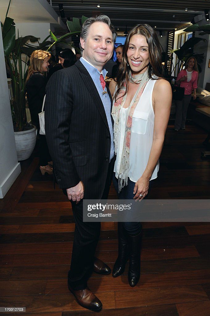 Jason Binn, CEO/Founder of DuJour Media and Publicist Shamin Abas attend DuJour Magazine Summer Issue celebrating the Julianne Moore cover on June 10, 2013 at Marlin Bar at Tommy Bahama in New York City.