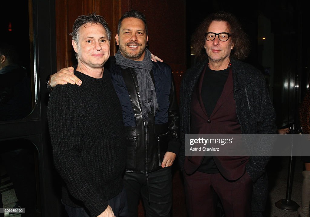 Jason Binn, Diesel CEO Tommaso Bruso, and Marchiori Maurizio attend an exclusive event with DuJour's Jason Binn and Nicole Vecchiarelli to celebrate the 'Steven Tyler...Out On A Limb' charity show benefitting Janie's Fund at LAVO on April 30, 2016 in New York City.