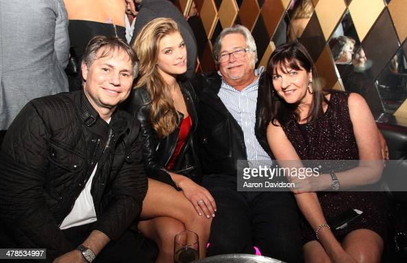 Jason Binn Nina Agdal Micky Arison and Madeleine Arison attend Spring Fling at Wall at W Hotel on March 13 2014 in Miami Beach Florida