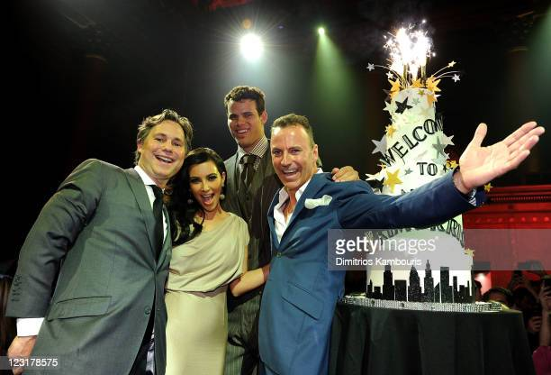 Jason Binn TV personality Kim Kardashian NBA player Kris Humphries and Colin Cowie attend A Night of Style Glamour to welcome newlyweds Kim...