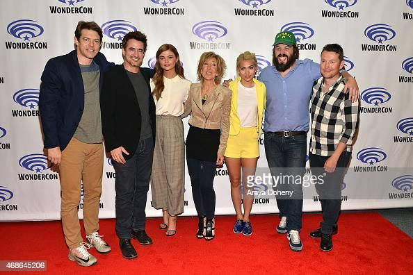 Jason Blum Dermot Mulroney Stefanie Scott Lin Shaye Hayley Kiyoko Angus Sampson and Leigh Whannell attend 'Insidious Chapter 3' Cast and Filmmakers...