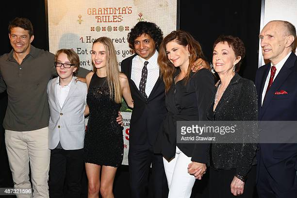 Jason Blum Ed Oxenbould Olivia DeJonge M Night Shyamalan Kathryn Hahn Deanna Dunagan and Peter McRobbie attend the New York premiere of 'The Visit'...