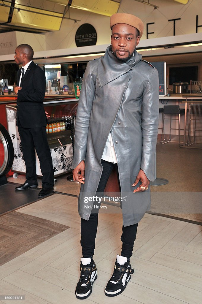 Jason Boateng attends the launch of 1205 Paula Gerbase Hosted By Harvey Nichols ahead of the London Collections: MEN AW13 at on January 6, 2013 in London, England.