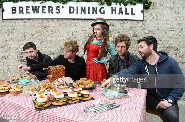 Jason Boland Stephen Garrigan Mark Prendergast and Vinny May from Kodaline with Sammy from Queen's of Neon a multidimensional creative collective at...