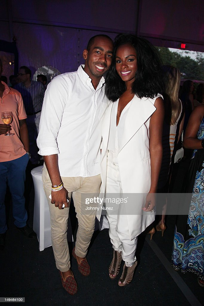 Jason Bolden and <a gi-track='captionPersonalityLinkClicked' href=/galleries/search?phrase=Tika+Sumpter&family=editorial&specificpeople=4168370 ng-click='$event.stopPropagation()'>Tika Sumpter</a> attend the 13th Annual Russel Simmons Rush philanthropic ART FOR LIFE on July 28, 2012 in East Hampton, New York.