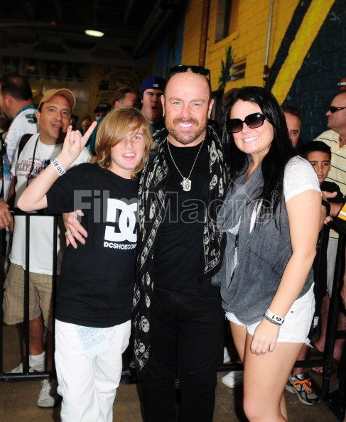 jason bonham son jager bonham and daughter jaz bonham of jason bonhams filmmagic 131837395. Black Bedroom Furniture Sets. Home Design Ideas