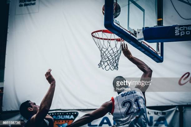 Jason Boone during the LNBM Men's National Basketball League game between CSM Steaua Bucharest and BC Mures TarguMures at Sala Regimentul de Garda...