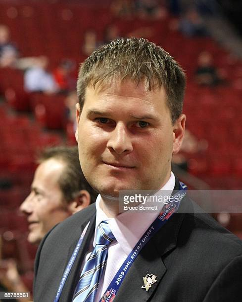 Jason Boterill of the Pittsburgh Penguins photographed during the first round of the 2009 NHL Entry Draft at the Bell Centre on June 26 2009 in...