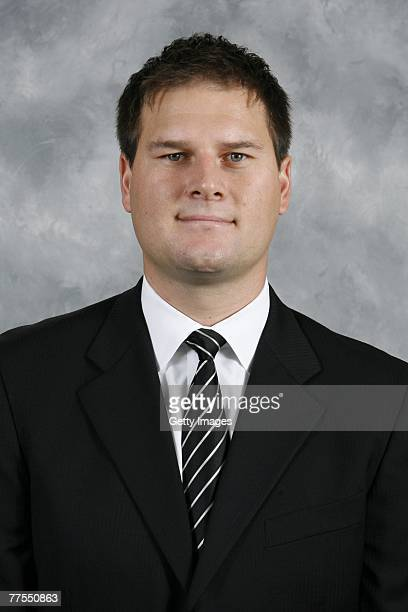 Jason Botterill of the Pittsburgh Penguins poses for his 2007 NHL headshot at photo day in Pittsburgh Pennsylvania