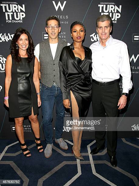 Jason Bricker Suzanne Cohen Anthony Ingham Jennifer Hudson and Dave Marr attend W Hotels 'Turn It Up For Change' Launch to benefit The Human Rights...