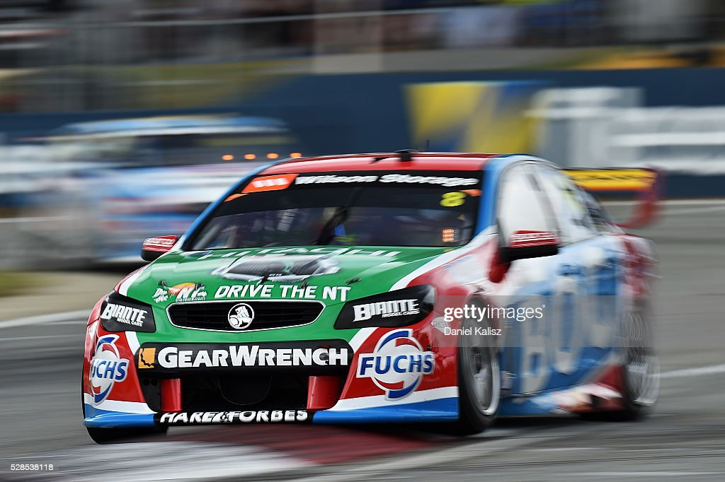 <a gi-track='captionPersonalityLinkClicked' href=/galleries/search?phrase=Jason+Bright&family=editorial&specificpeople=211178 ng-click='$event.stopPropagation()'>Jason Bright</a> drives the #8 Team BOC Holden Commodore VF during practice for the V8 Supercars Perth SuperSprint at Barbagallo Raceway on May 6, 2016 in Perth, Australia.