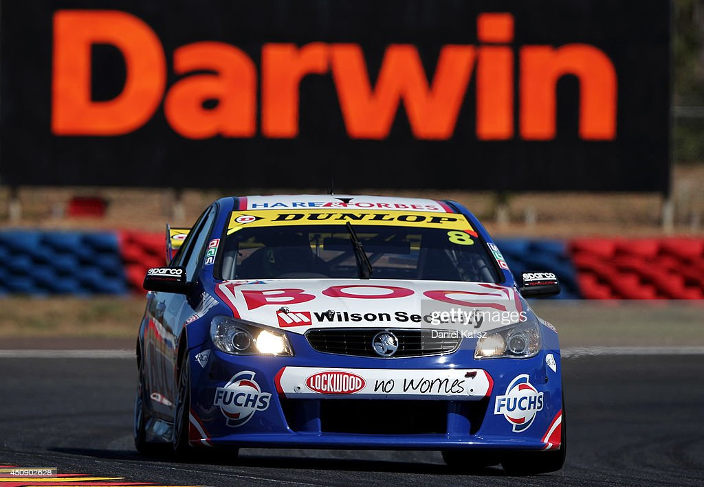 Jason Bright drives the #8 Team BOC Holden during practice for the Triple Crown Darwin, which is round six of the V8 Supercar Championship Series at Hidden Valley Raceway on June 20, 2014 in Darwin, Australia.