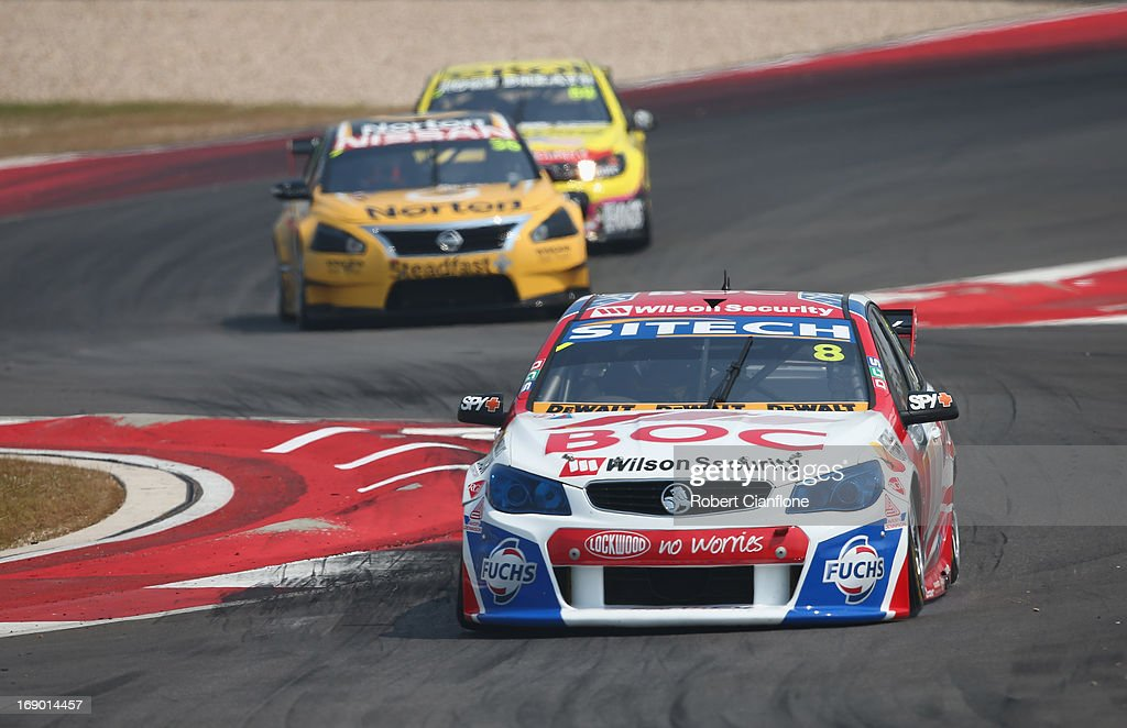 <a gi-track='captionPersonalityLinkClicked' href=/galleries/search?phrase=Jason+Bright&family=editorial&specificpeople=211178 ng-click='$event.stopPropagation()'>Jason Bright</a> drives the #8 Team BOC Holden during race 13 for the Austin 400, which is round five of the V8 Supercar Championship Series at Circuit of The Americas on May 18, 2013 in Austin, Texas.