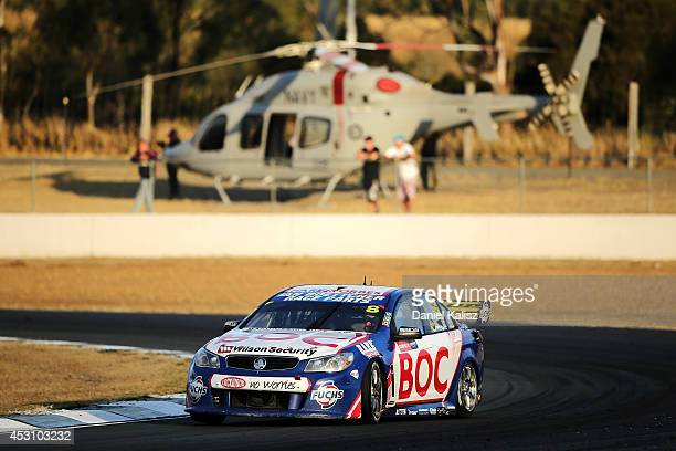 Jason Bright drives the Team BOC Holden during race 25 for the Ipswich 400 which is round eight of the V8 Supercar Championship Series at Queensland...