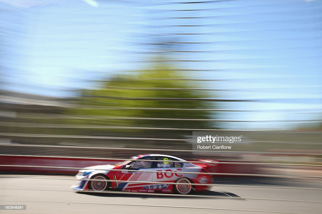 Jason Bright drives the #8 Team BOC Holden during race one of the Clipsal 500, which is round one of the V8 Supercar Championship Series, at the Adelaide Street Circuit on March 2, 2013 in Adelaide, Australia.