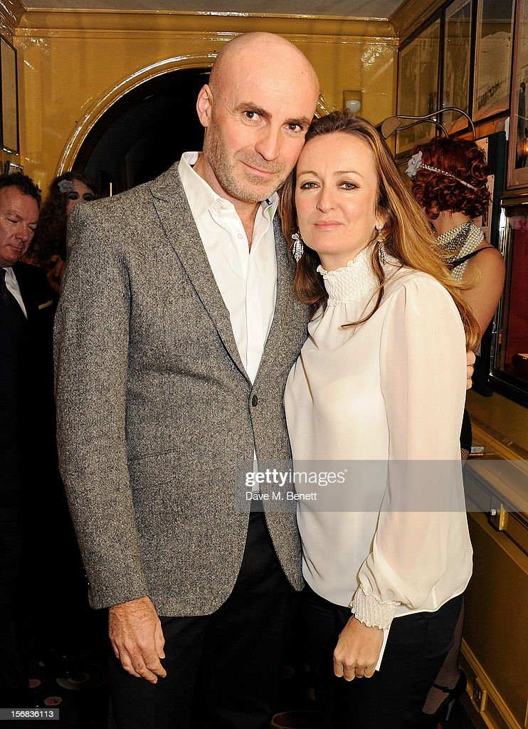 Jason Brooks (L) and Lucy Yeomans attend a launch hosted by The Vinyl Factory of Bryan Ferry's new album 'The Jazz Age' at Annabelson November 22, 2012 in London, England.