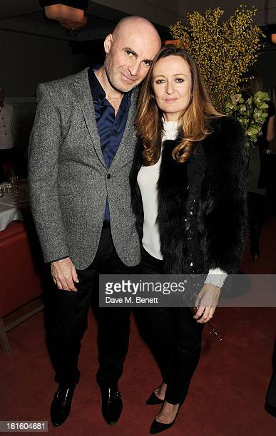 Jason Brooks and Lucy Yeomans attend a private dinner hosted by Lucy Yeomans celebrating Jason Brooks at Cafe Royal on February 12 2013 in London...