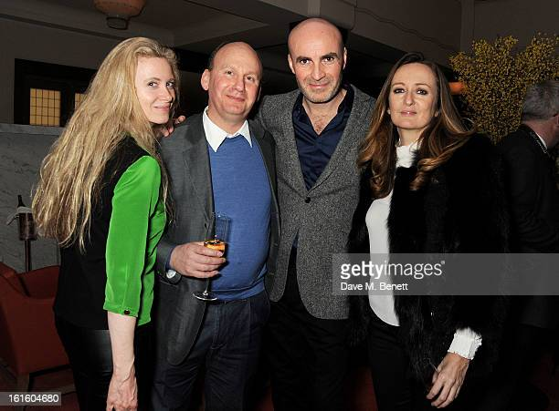 Jason Brooks Lucy Yeomans and guests attend a private dinner hosted by Lucy Yeomans celebrating Jason Brooks at Cafe Royal on February 12 2013 in...