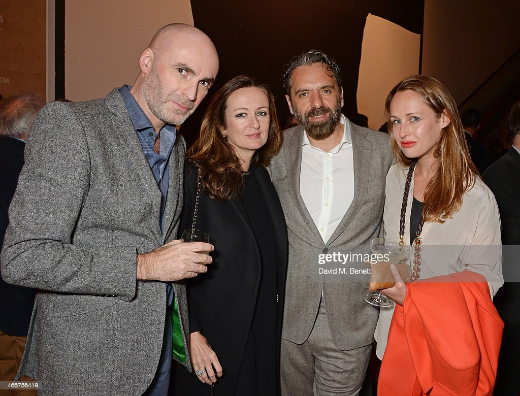 Jason Brooks Lucy Yeomans Keith Tyson and Viola Fort attend a private view of Bailey's Stardust a exhibition of images by David Bailey supported by...