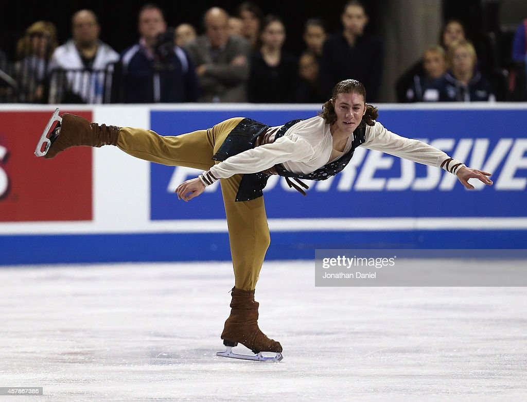 <a gi-track='captionPersonalityLinkClicked' href=/galleries/search?phrase=Jason+Brown+-+Figure+Skater&family=editorial&specificpeople=12450686 ng-click='$event.stopPropagation()'>Jason Brown</a> competes during the Men Free Skating during the 2014 Hilton HHonors Skate America competition at the Sears Centre Arena on October 25, 2014 in Hoffman Estates, Illinois.