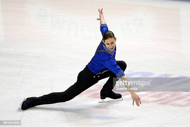 Jason Brown competes in the Championship Men's Short Pogram Competition during day 2 of the 2015 Prudential US Figure Skating Championships at...