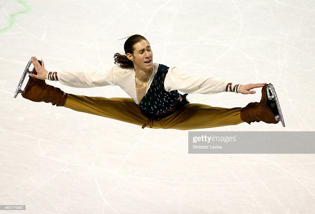 <a gi-track='captionPersonalityLinkClicked' href=/galleries/search?phrase=Jason+Brown+-+Figure+Skater&family=editorial&specificpeople=12450686 ng-click='$event.stopPropagation()'>Jason Brown</a> competes in the Men's Free Skate Program Competition during day 4 of the 2015 Prudential U.S. Figure Skating Championships at Greensboro Coliseum on January 25, 2015 in Greensboro, North Carolina.
