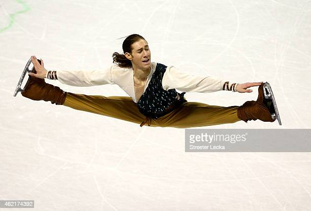 Jason Brown competes in the Men's Free Skate Program Competition during day 4 of the 2015 Prudential US Figure Skating Championships at Greensboro...