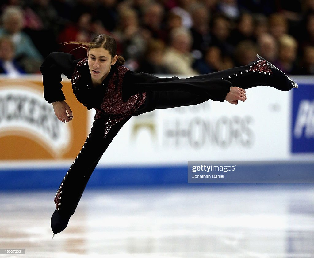 <a gi-track='captionPersonalityLinkClicked' href=/galleries/search?phrase=Jason+Brown+-+Figure+Skater&family=editorial&specificpeople=12450686 ng-click='$event.stopPropagation()'>Jason Brown</a> competes in the Men's Short Program during the 2013 Prudential U.S. Figure Skating Championships at CenturyLink Center on January 25, 2013 in Omaha, Nebraska.