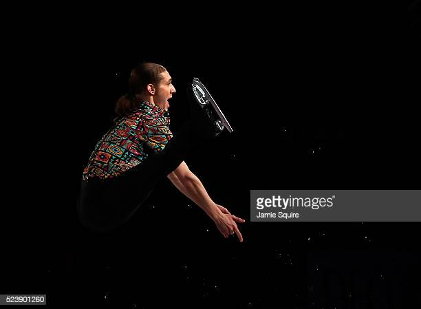 Jason Brown of Team North America performs during an exhibition on day 3 of the 2016 KOSE Team Challenge Cup at Spokane Arena on April 24 2016 in...